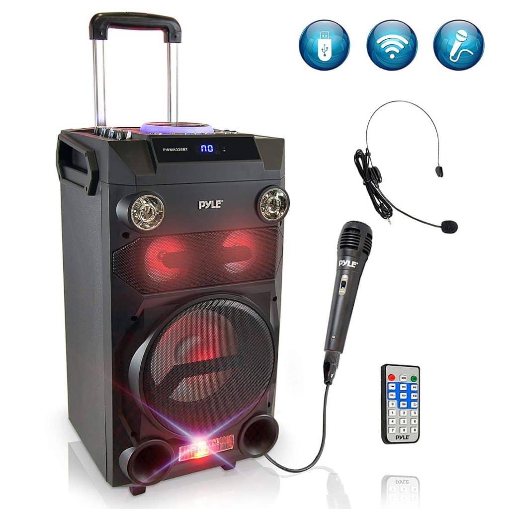 Pyle Outdoor Karaoke Loud Speaker