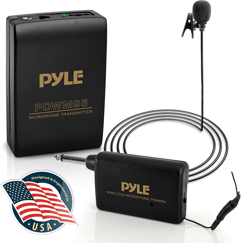Pyle PDWM96 Wireless Clip Lavalier Microphone System