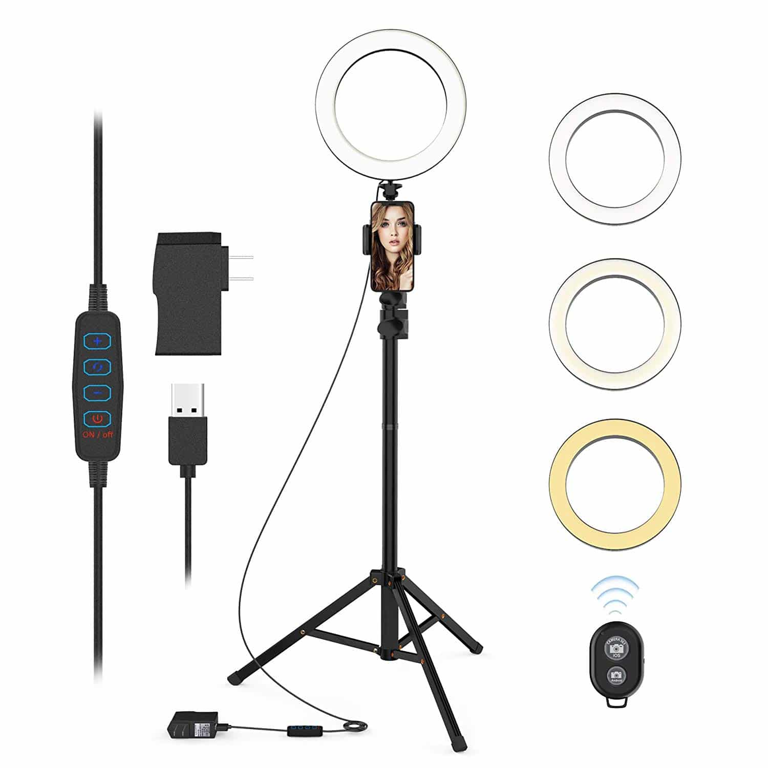 QIAYA Ring Light with Stand