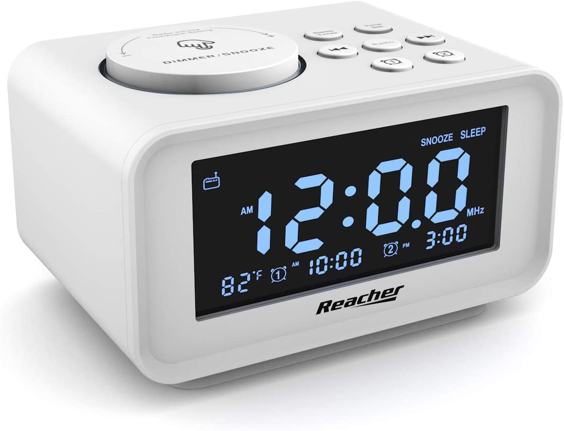 REACHER Dual Alarm Clock Radio