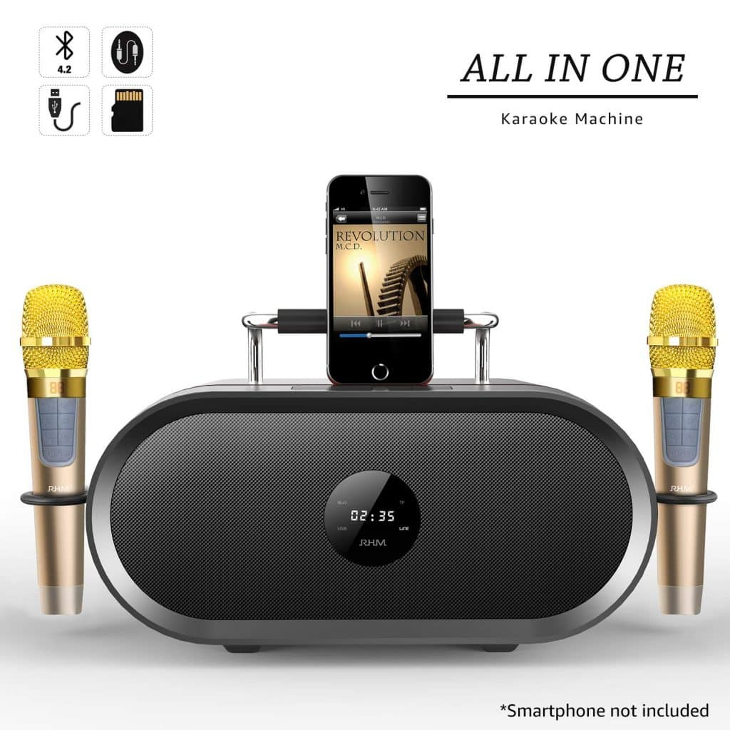 RHM Karaoke Machine for Kids with Wireless Speakers