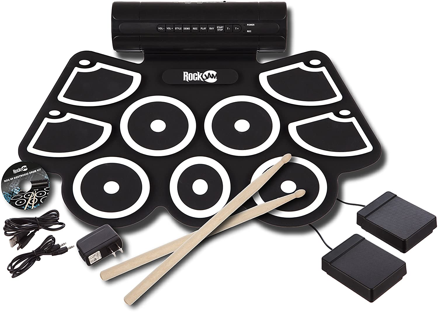RockJam MIDI Portable Electronic Drum Kit