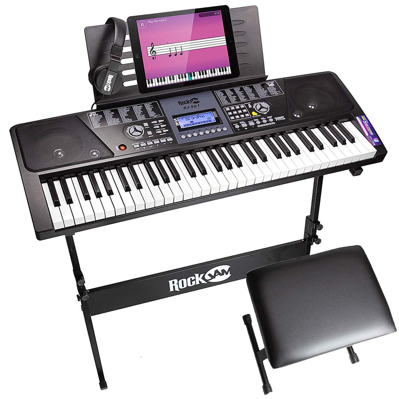 RockJam RJ561 61-Key Electronic Keyboard Piano (SuperKit)