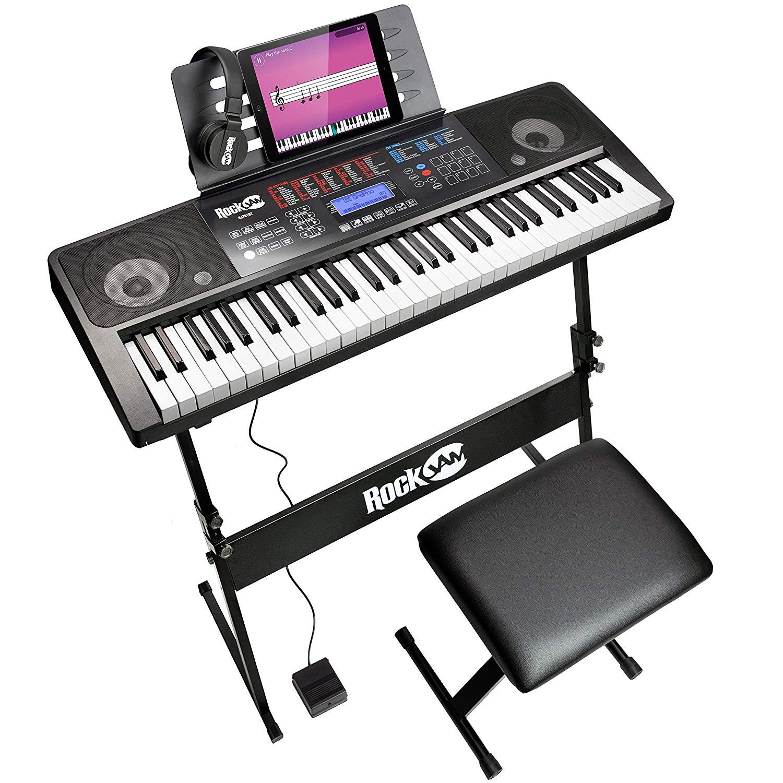 RockJam RJ761 61 Key Electronic Interactive Teaching Piano Keyboard