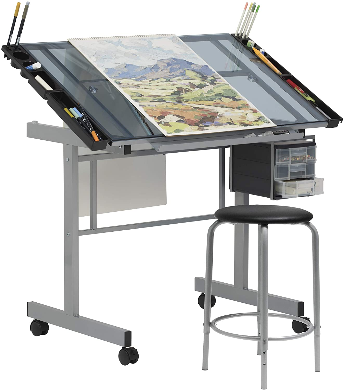 SD Studio Design 2-piece Art Desk for Artists