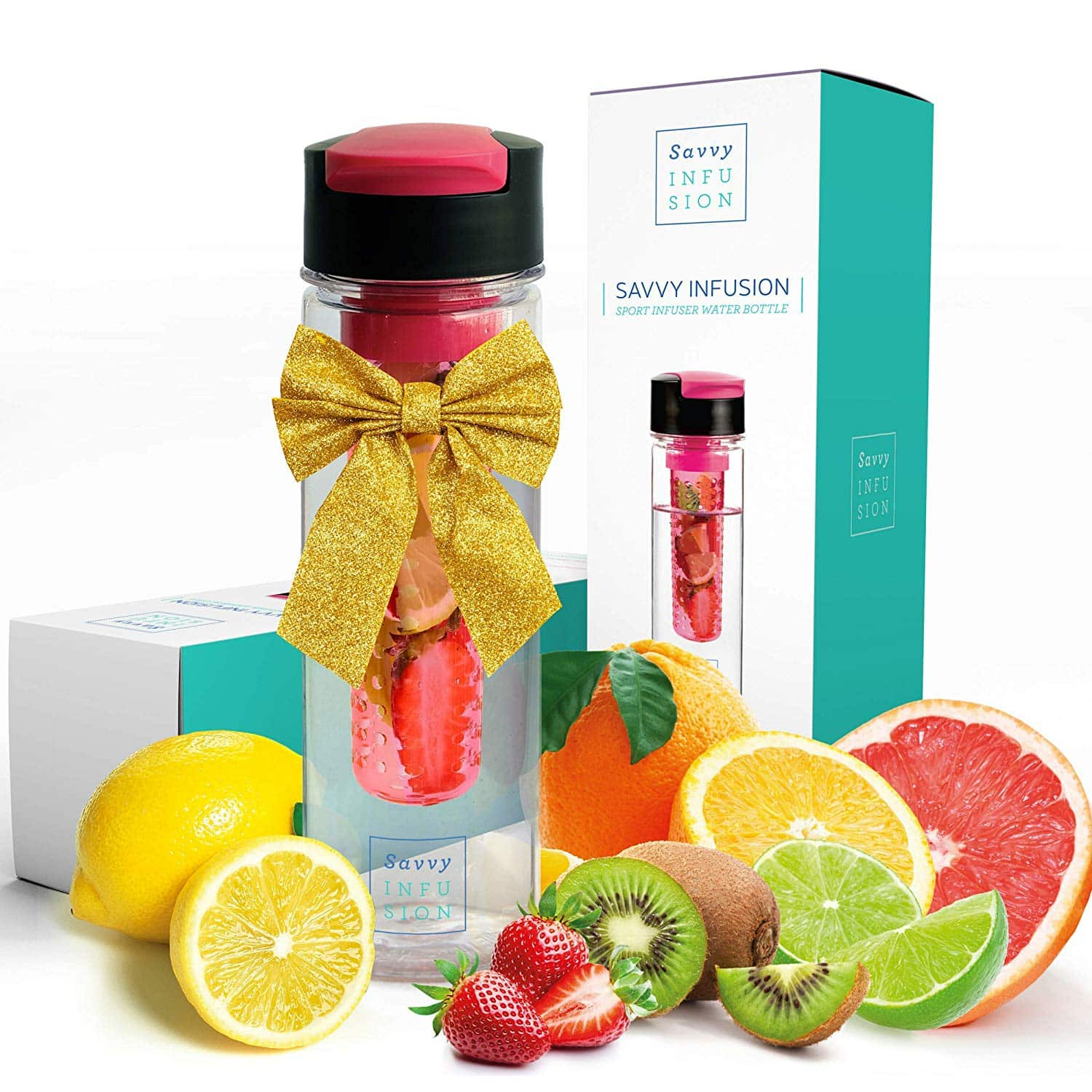 Savvy Infusion Flip Top Fruit Infuser Bottle