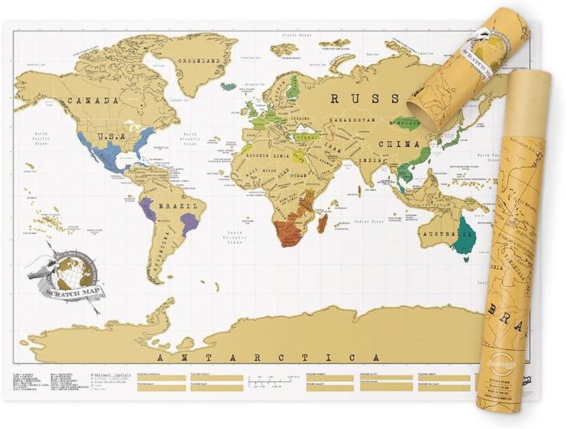 Scratch Map Personalized Original Scratch off Map