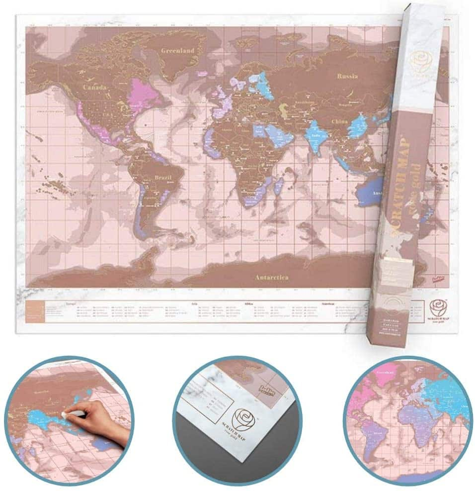 Scratch off Personalized World Map by Luckiest of London