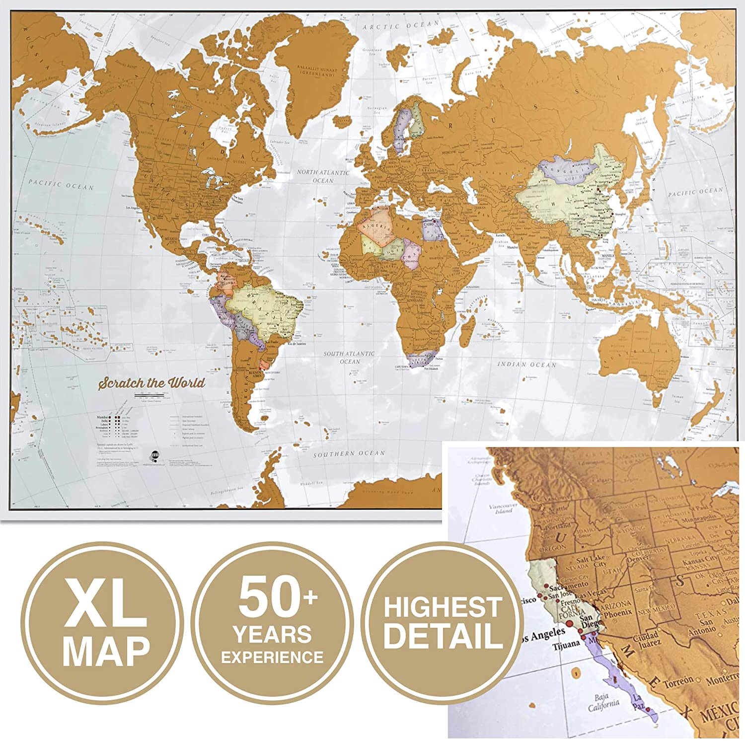 Scratch the World Scratch off Travel Map