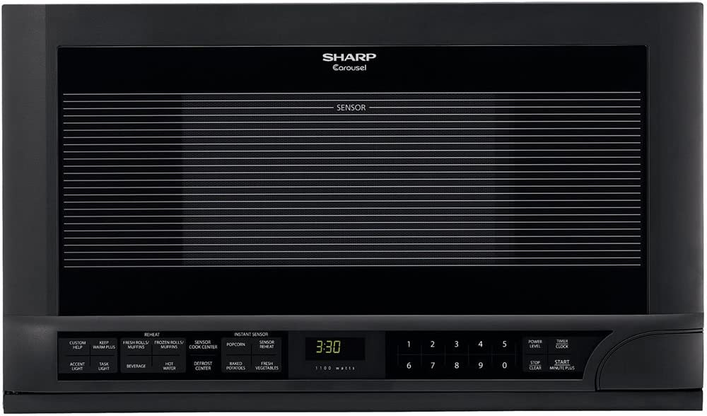 Sharp R-1210 Over the Counter Microwave