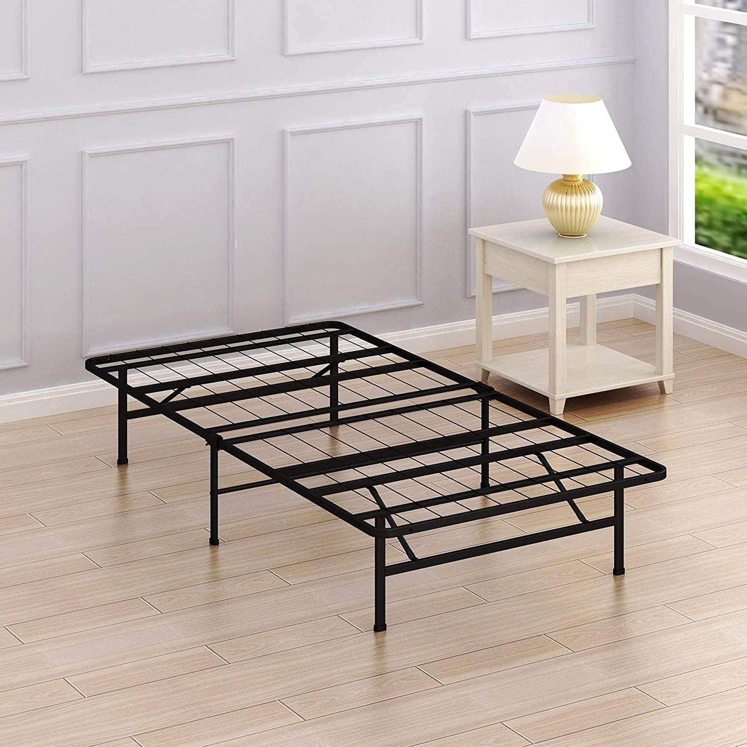 Simple Houseware Twin Size Mattress Foundation Platform Bed Frame