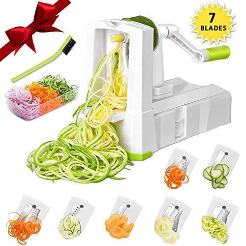 Smile mom's 7-Blade Spiralizer Vegetable Slicer
