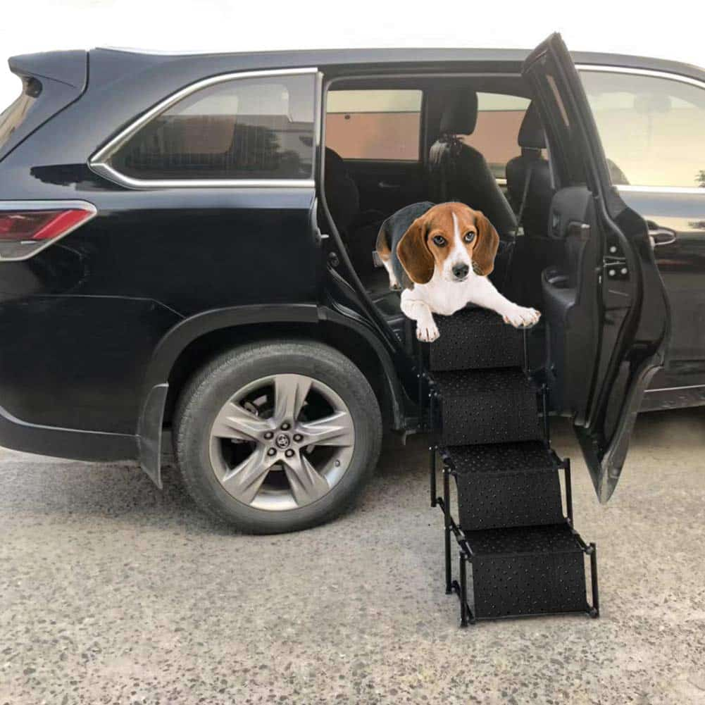 Snagle Paw Upgraded Pet Dog Car Step Stairs