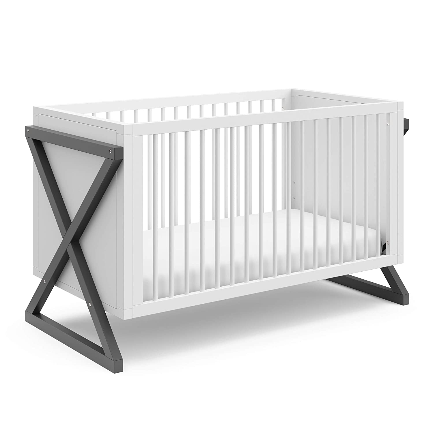 Storkcraft Equinox 3-in-1 Convertible Crib (Gray)
