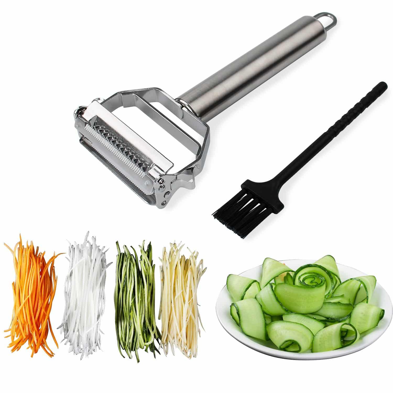 Sunkuka Julienne Peeler Stainless Steel Vegetable Shredder