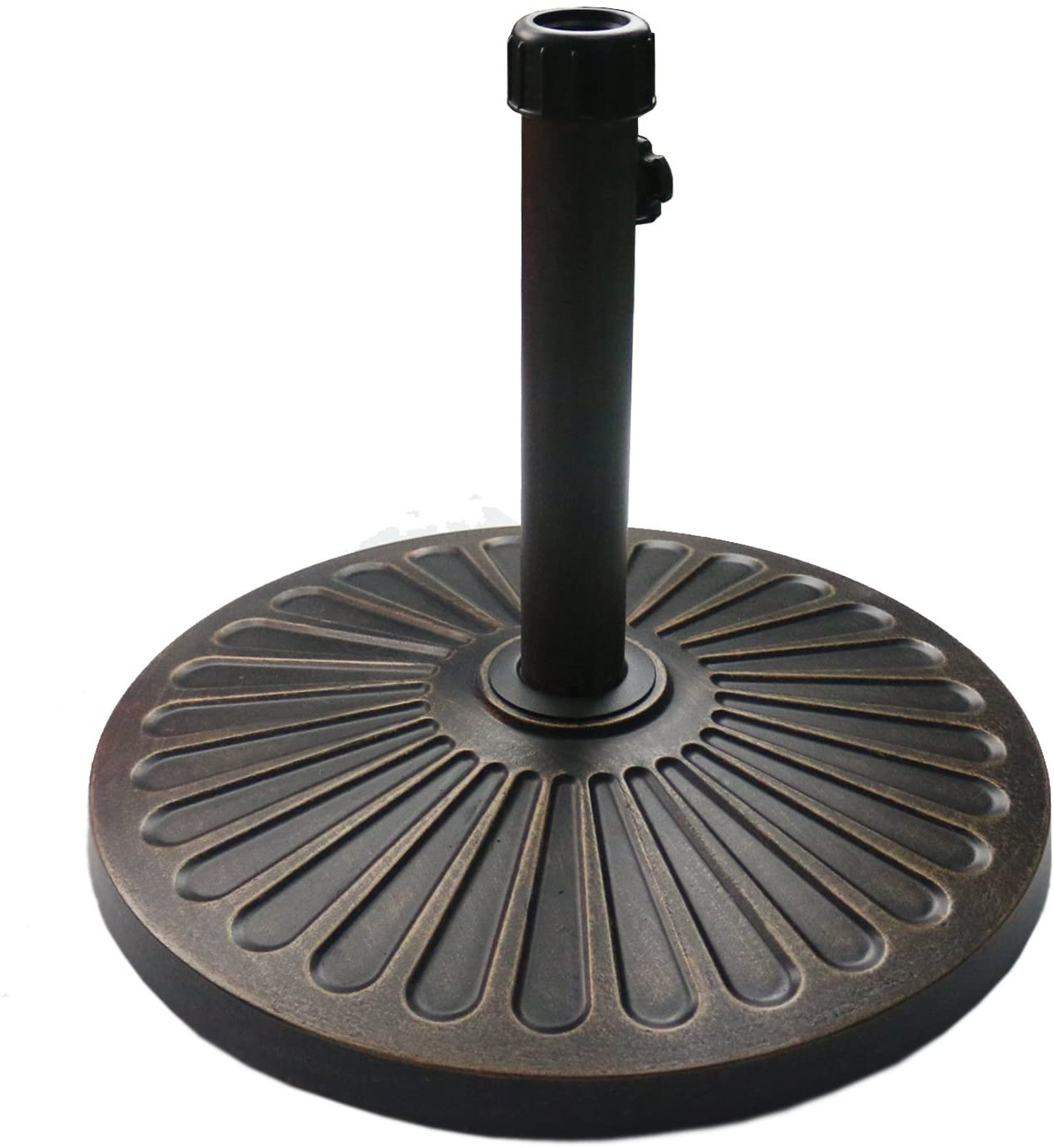 Sunnyglade Round Heavy Duty Antiqued Umbrella Base for Patio