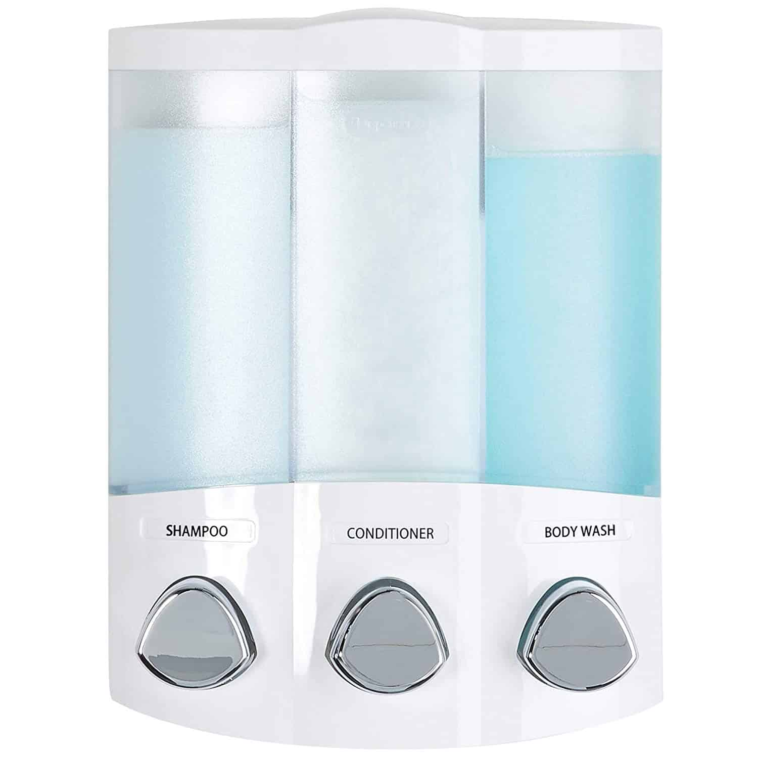 TRIO 3-Chamber Soap and Shower Dispenser
