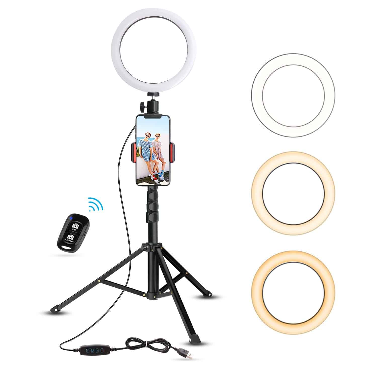 Ubeesize 8-inch Ring Light with stand