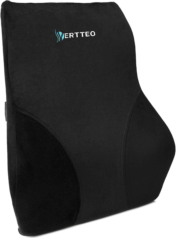 Vertteo Full Lumbar Black Support Back Pillow