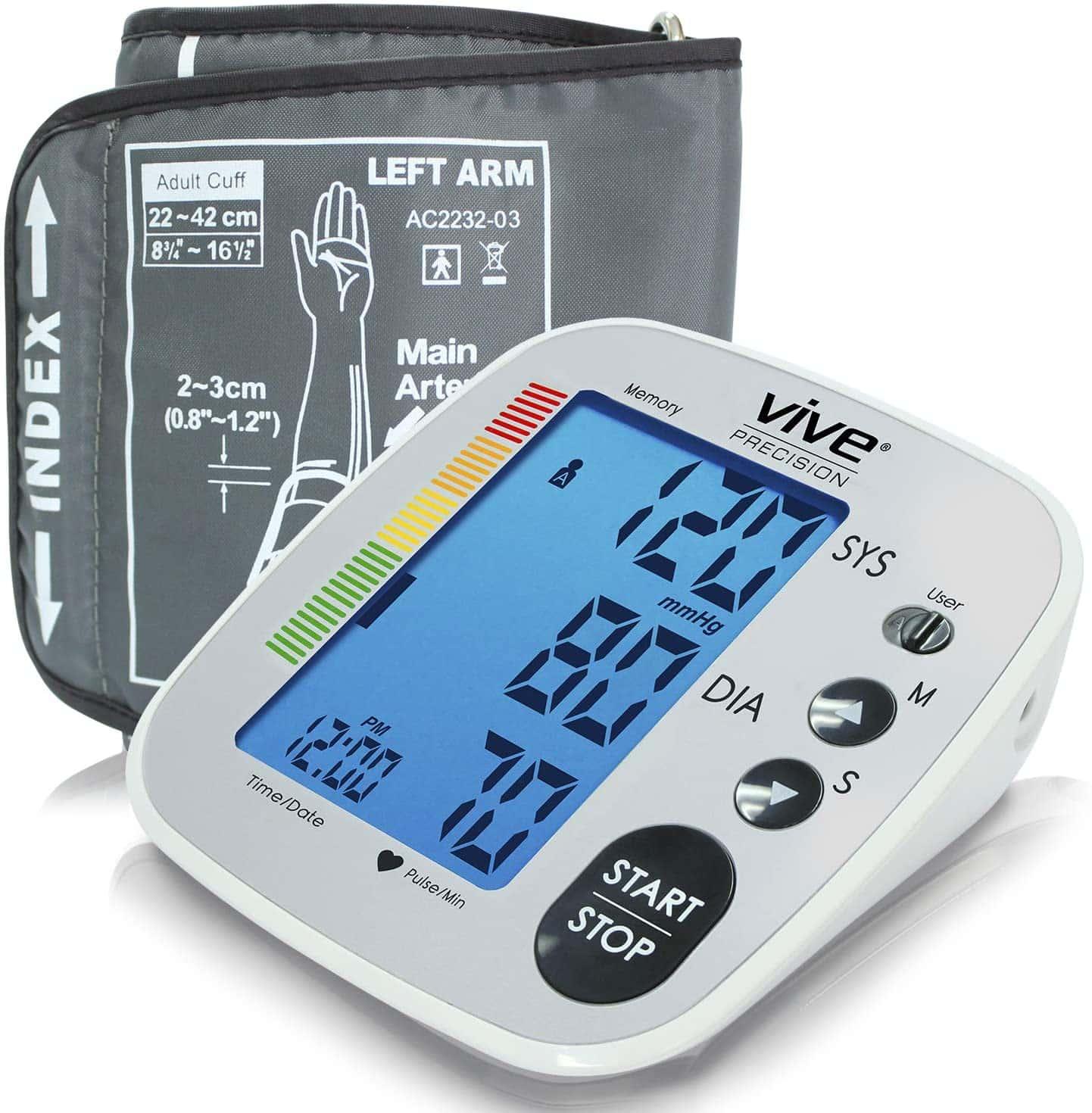 Vive Precision Blood Pressure Cuff Blood Pressure Monitor