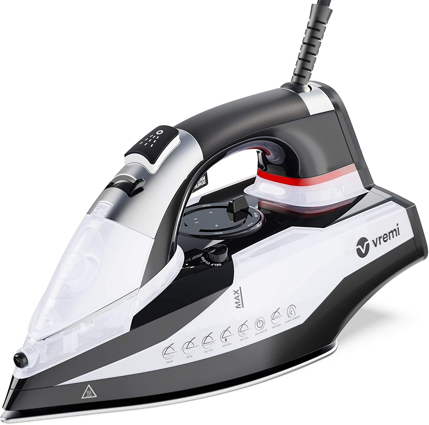 Vremi 1800-Watt Steam Iron